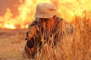عکس/ تک تیرانداز ایرانی