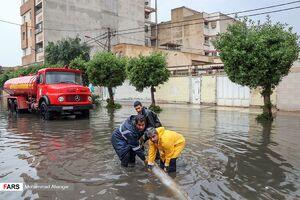 فیلم/ ونیزی شدن خیابانهای یزد پس از یک روز بارانی