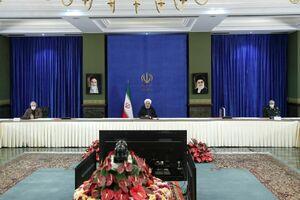 عکس/ روحانی در جلسه ستاد ملی مبارزه با کرونا