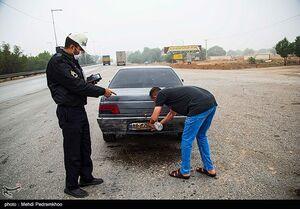 عکس/ دستور پلیس به راننده متخلف