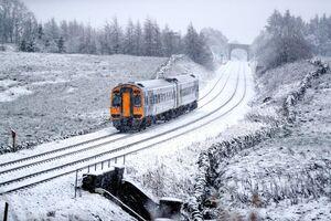 عکس/ بارش برف در انگلیس