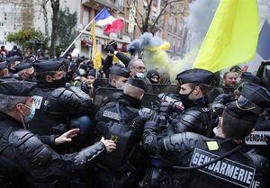اعتراضات سراسری در فرانسه علیه خشونت پلیس/صدها تن بازداشت و مجروح شدند+فیلم