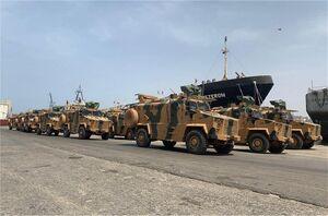 تجهیزات جدید نظامی ترکیه در لیبی+عکس