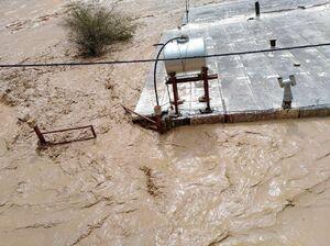فیلم/ سیلاب های شدید در شهرهای جنوبی