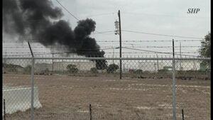 عکس/ آتشسوزی در یک انبار نفت در تگزاس