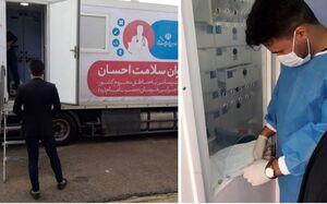 عکس/ استقرار کاروان سلامت در مناطق سیلزده خوزستان