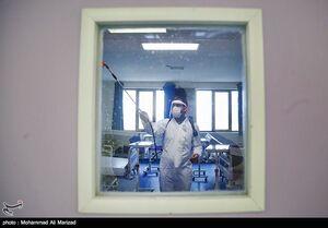 عکس/ شستشو و ضد عفونی بیمارستان فرقانی قم