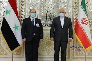 فیصل المقداد با ظریف دیدار کرد