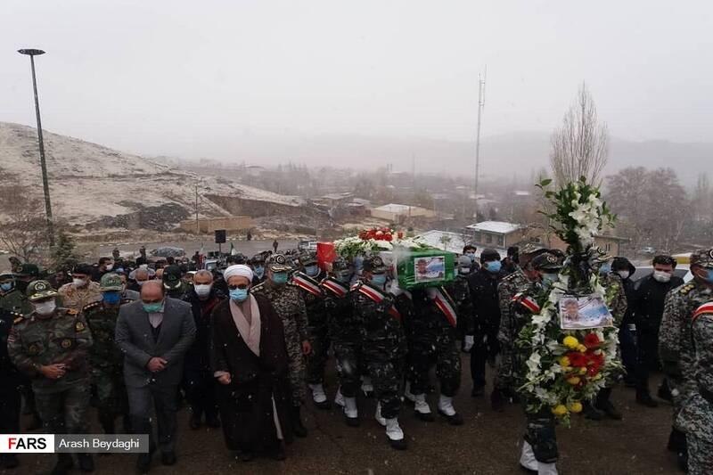خاکسپاری پیکر مطهر جانباز سرافراز، شهید بنار با توجه به وصیتش در گلزار شهدای شهمیرزاد