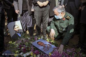سردار فدوی در مراسم تشییع «علی اصغر زارعی»
