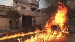 ۴ نفر در  اعتراضات کردستان عراق کشته شدند/ ساختمانهای احزاب کُرد به آتش کشیده شد +عکس و فیلم
