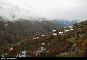 عکس/ هوای برفی در ییلاقات رحیم آباد گیلان