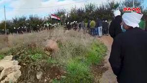 عکس/ تظاهرات در جولان اشغالی