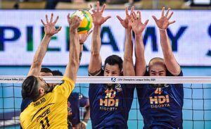 درخشش لژیونر والیبال ایران در لیگ قهرمانان اروپا