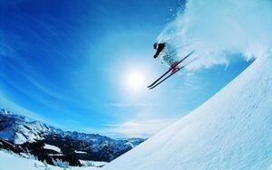 عکس/یک روز اسکی چقدر آب میخورد؟
