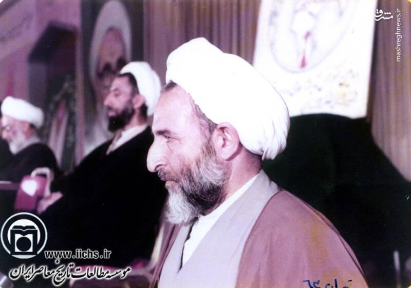 1363. تهران؛ آیتالله محمد یزدی در حال سخنرانی در کنفرانس اندیشه اسلامی