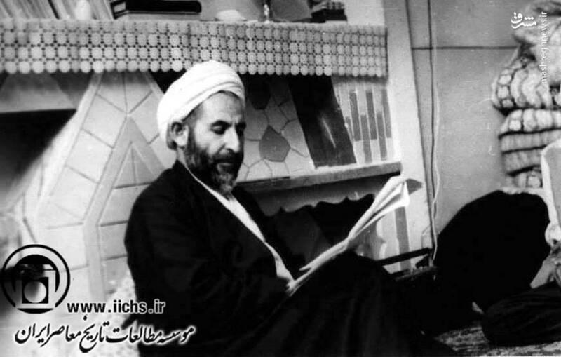 دهه 1350. قم؛ آیتالله محمد یزدی در منزل شخصی