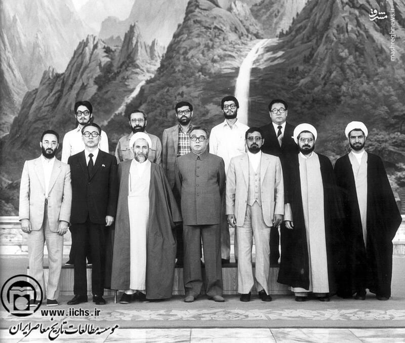 دهه 1360. آیتالله محمد یزدی همراه با هیئتی از مجلس شورای اسلامی در سفر به کره شمالی