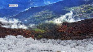 عکس/ مرز میان پاییز و زمستان