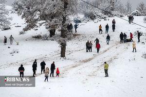 تفریحات برفی در روزهای قرمز کرونایی