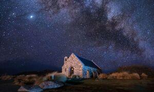 عکس/ آسمان رویایی پر ستاره در دل شب