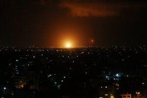 فیلم/ حمله جنگندههای رژیم صهیونیستی به غزه