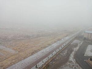بارش برف، مه غلیظ، قزوین هم اکنون