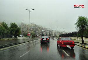 عکس/ هوای بارانی و مه غلیظ در دمشق