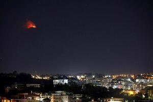 "عکس/ فعالیت آتشفشان ""اتنا"" در ایتالیا"