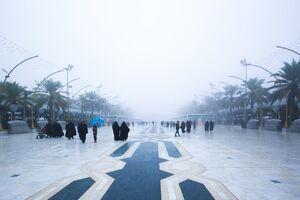 مه غلیظ در بین الحرین