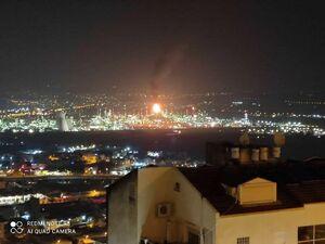 فیلم/آتشسوزی در پالایشگاه نفتی حیفا