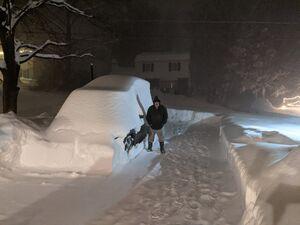 فیلم/ دفن خودروها زیر برف در چند ساعت