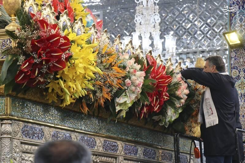 گل آرایی حرم حضرت زینب (س)