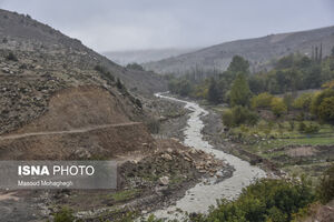 عکس/ ساخت سد «فینسک» در سمنان