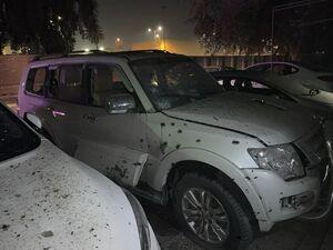 عکس/ خسارات حمله راکتی به سفارت آمریکا در بغداد