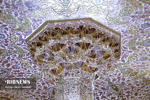 عکس/ هنر آینه کاری ایرانی در حرم نورانی رضوی