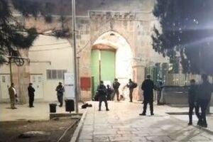 یک فلسطینی مقابل مسجد الاقصی به شهادت رسید