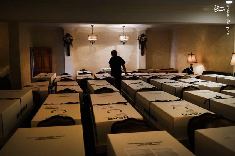 مراسم دفن اجساد قربانیان کرونا
