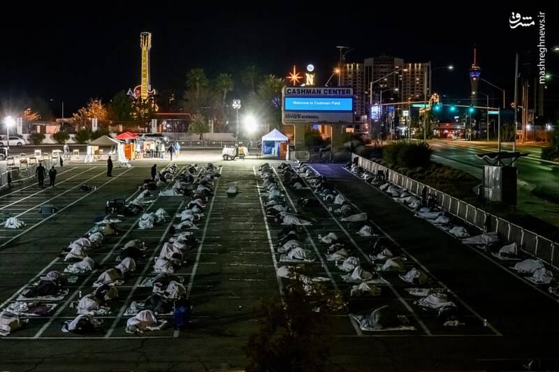 وضعیت نامناسب کارتن خواب ها در لاس وگاس