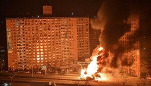 عکس/ انفجار و آتش سوزی عظیم در یکی از خیابان نیویورک