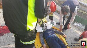 عکس/ واژگونی مرگبار وانت بار در تهران