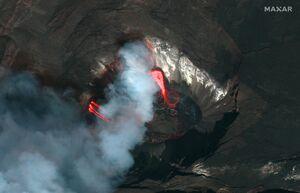 تصاویر ماهوارهای از فوران آتشفشان در هاوایی