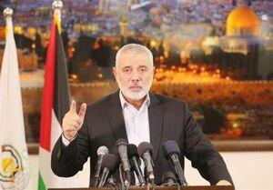 هنیه: سازش با رژیم اشغالگر خیانت به فلسطین است
