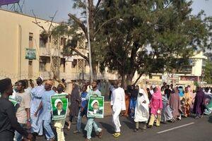 تجمع اعتراضی هواداران شیخ زکزاکی در پایتخت نیجریه