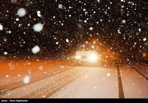 احتمال بارش شدید برف و کولاک در محورهای کوهستانی