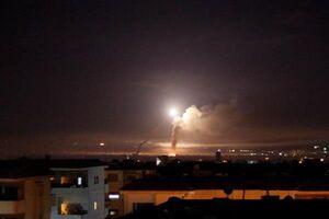 فیلم/ انهدام موشک اسرائیلی توسط پدافند سوریه