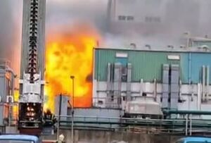 فیلم/ انفجار شدید در کارخانه داروسازی تایوان