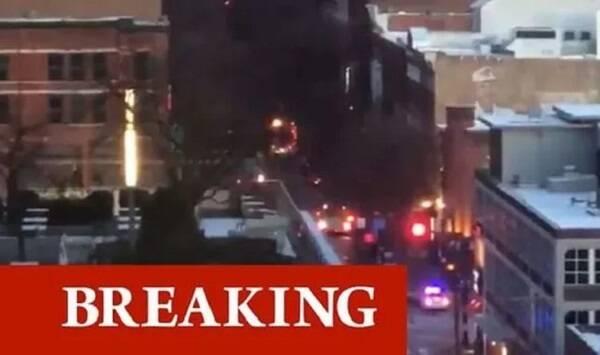 انفجار مهیب در نشویل آمریکا + تصاویر