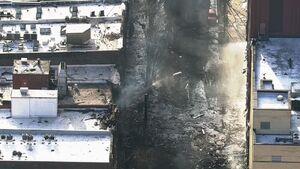 تصاویر هوایی از انفجار در نشویل آمریکا