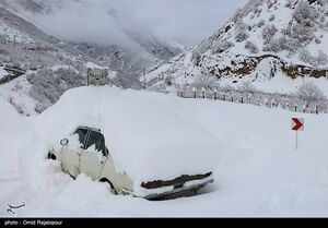 عکس/ بارش برف سنگین در گیلان